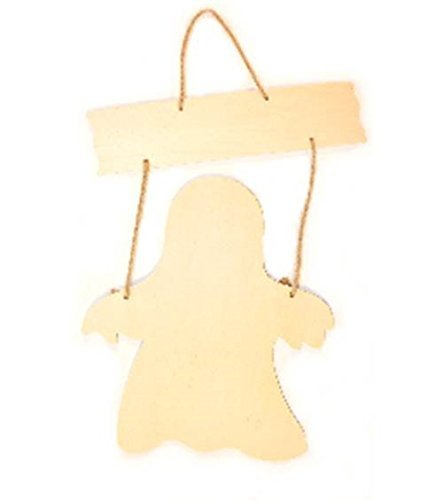 Halloween Sign Craft - Darice Ghost Wood Halloween Sign - Unfinished