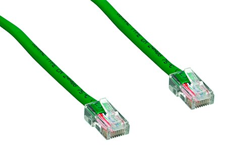 Cablelera 50' Category 5e UTP Network Patch Cable, Non-Booted Assembly, Green Color (ZNWN4430-50) -