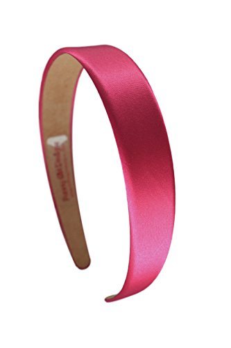 1 Inch Wide Funny Girl Designs Satin Headband (Hot Pink)