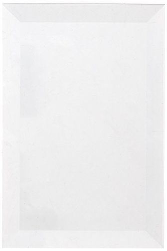 School Specialty Glass Rectangle Bevel, 4 X 6 in, Clear, Set of 6 by School Specialty