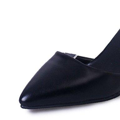 LvYuan Mujer-Tacón Stiletto-Confort-Sandalias-Informal-Cuero Patentado-Negro Plata Gris Silver