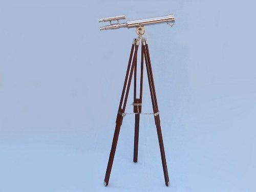 Floor Standingクローム – レザーHarborマスター望遠鏡42