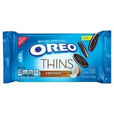 (New! Oreo Coconut Thins Sandwich cookies 10.1 oz ( 2 Pack) )