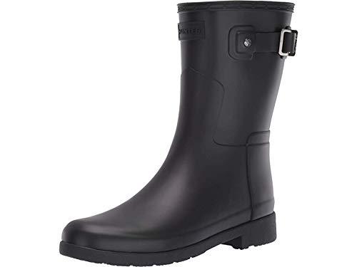 Hunter Women's Original Refined Short Rain Boots Black