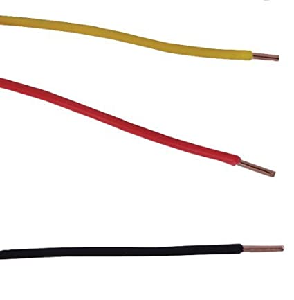22 gauge awg solid hook-up wire set - 91,4 m 3 color kit 100 pies