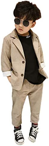 Patypeety キッズ 男の子 スーツ フォーマル 子供服 上下セット カジュアルスーツ 韓国風 結婚式 入学式 卒業式 入園式 卒園式 入学祝い パーティー