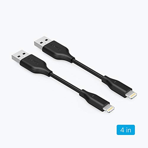 [2 Pack] Anker Powerline Lightning Cable (4 inch) Apple MFi Certified - Lightning Cables for iPhone Xs/XS Max/XR/X / 8/8 Plus / 7/7 Plus, iPad Mini / 4/3 / 2, iPad Pro Air 2