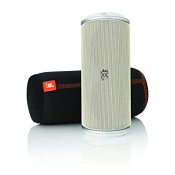 JBL Flip White Portable Stereo Speaker with Wireless Bluetooth Connection (White)