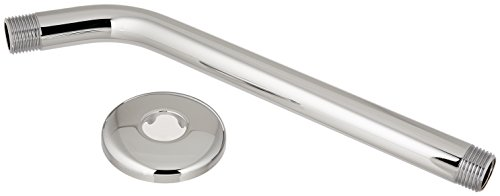 Hansgrohe 04186003 Long Shower Arm and Flange, 9-Inch, Chrome
