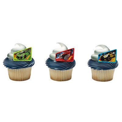 Hot Wheels Way 2 Fast Cupcake Rings 12 (Hot Wheel Cake)