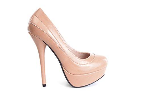 Andres Machado.AM589.Zapatos con Plataforma.Para Mujer.Tallas Pequeñas/Grandes 32/35; 42/45 Maquillaje
