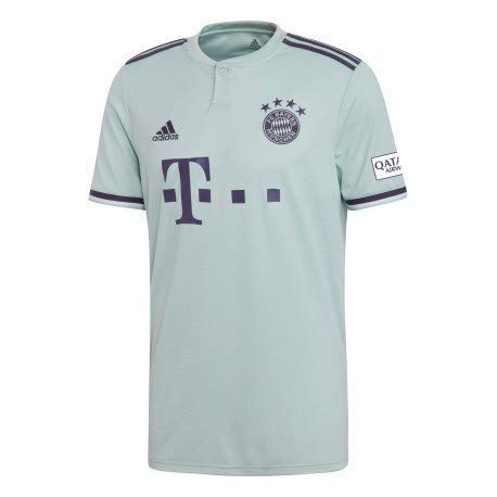 0fd4ce869 adidas Men s FC Bayern Munich Away Jersey 2018 2019 (Medium) Ash  Green Trace Purple White