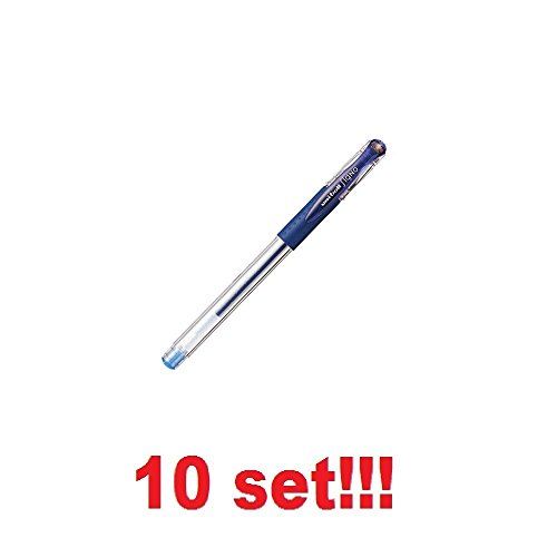 [10 Set!!!] Mitsubishi Pencil Gel Ballpoint pen Uni-Ball Signo Ultra-Thin 0.28mm BLUE BLACK UM-151-28-64 from Japan