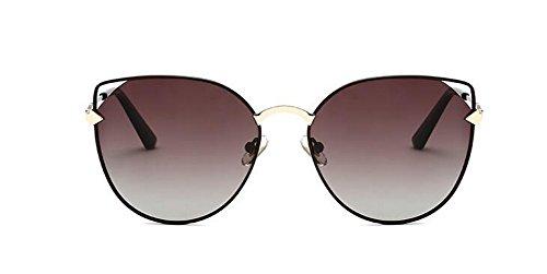 style retro de vintage métallique lunettes du en inspirées Asymptotique polarisées Thé rond Lennon soleil cercle BgUBHwxX