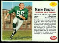 (1962 post cereal (Football) Card# 32 Maxie Baughan of the Philadelphia Eagles VG Condition)