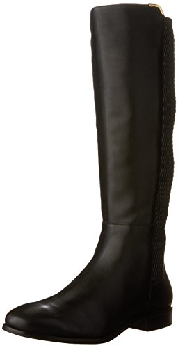 Cole Haan Women's Rockland Boot Riding Boot, Black Leather, 8 B US