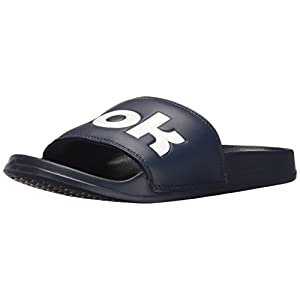 Reebok Men's Classic Slide Athletic Water Shoe, Collegiate Navy/White, 11 M US