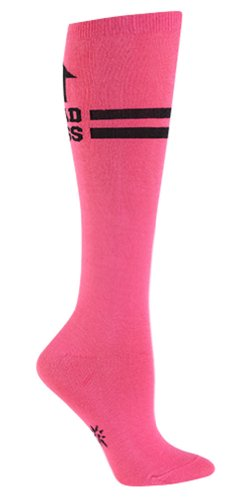 Sock It To Me Bad Ass Hot Pink Women's Knee High Socks, Pink, One Size Fits Most