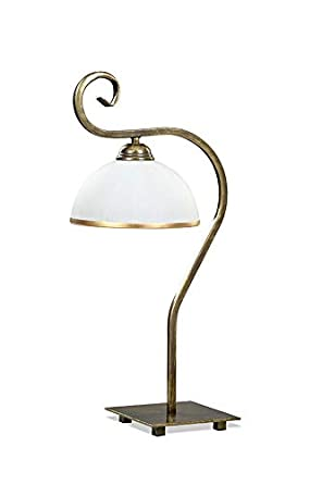 wohnlich 2C4FE7ECC2 Elisa - Lámpara de mesa (E27, hasta 60 W, 50 x ...