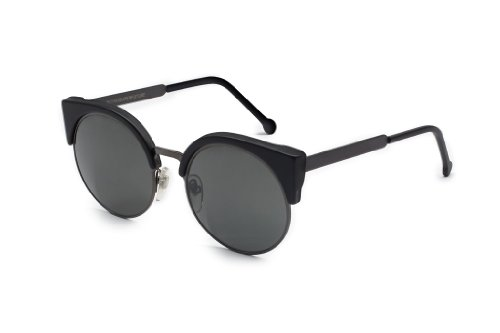 RETROSUPERFUTURE Sunglasses Ilaria AWW Matte Black with Black Zeiss - Zeiss Sunglasses Lens