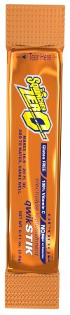 Sqwincher Stik Qwik Beverage 20Oz Yield Orange Quik Stick Zero -1 Pack of 50