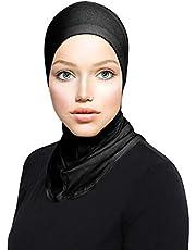 TheHijabStore.com Women's Ninja Hijab Cap Under Scarf Stretch Jersey Full Neck Coverage Hejab - Head Scarf Bonnet Accessories