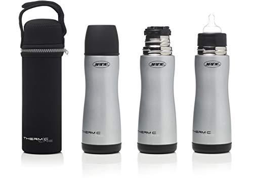 Jane Termo para Liquidos con Tetina Silicona, Capacidad 300ml, Incluye Bolsa de Neopreno