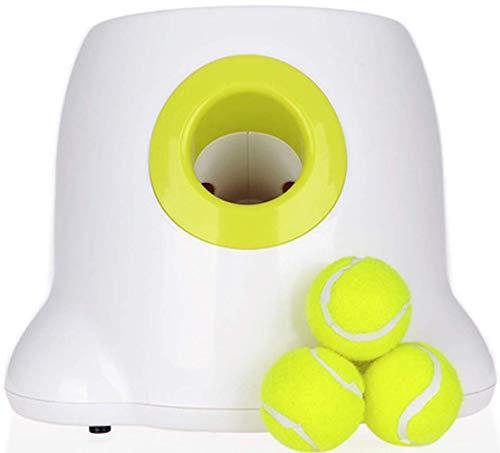 OLJF Dog Pet Toys Automatic Interactive Ball Tennis Launcher Automatic Throwing Mmachine Pet Ball Throw Device Emission with Ball