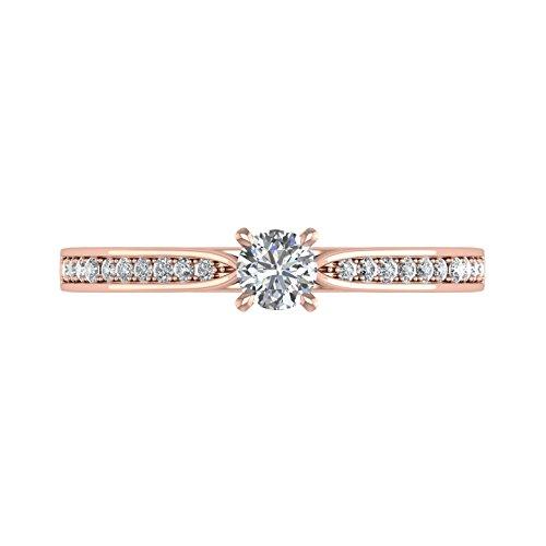 IGI Certified 10K Gold Diamond Engagement Band Ring (0.26 Carat)