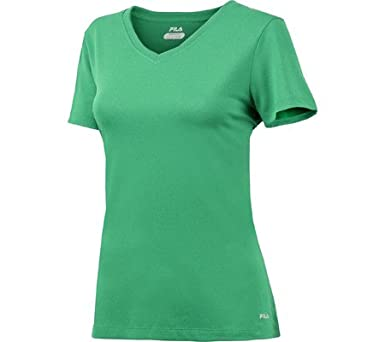 ee5fafe259d5 Fila Women's Short Sleeve Fitness Top at Amazon Women's Clothing store: