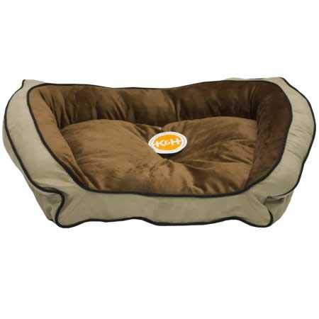 KH Bolster Couch Pet Bed Mocha Tan Large 28 x40