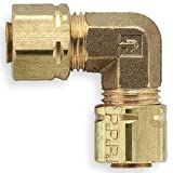 Parker Hannifin 2200PDE-2 Brass Drop Ear 90 Degree Extruded Elbow Pipe Fitting, 1/8