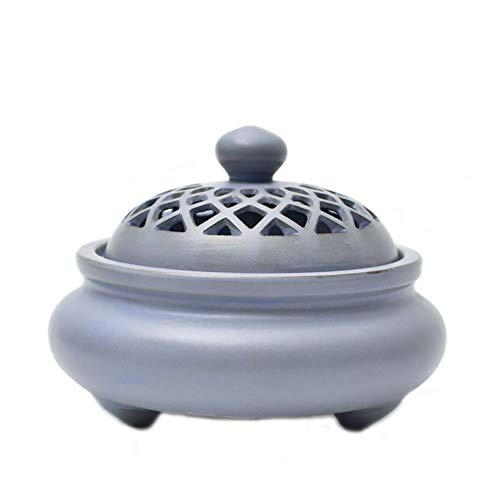 - Incense burner Incense Burner Ceramic Hollow Sandalwood Furnace Tea Ceremony Aromatherapy Burner Purification Air Decoration Ornaments (size: 11.89.5CM) Household aromatherapy stove, multi-functional