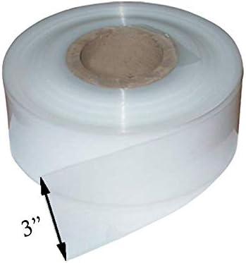 BWS 500 Gauge 1 Roll x 3 Heavy Duty Clear Polythene Layflat tubing