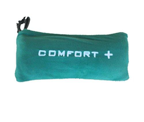 Comfort Plus 3-in-1 Microfleece Premium Travel Blanket (Green)