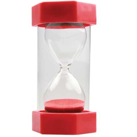 30 Second Sand Timer Bright Red 16 cm