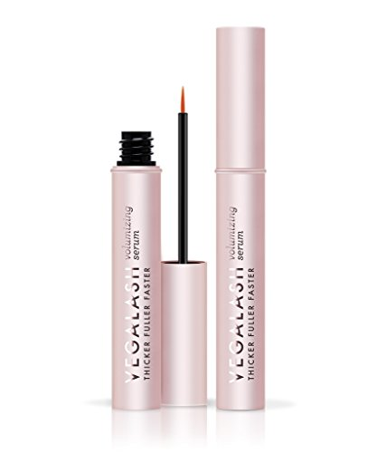 vegaLASH Volumizing Serum - Natural Eyelash Growth Enhancer Serum, Clinically Proven, Longer Lashes, 4mL/.13oz (Natural 100% 0.13 Ounce)