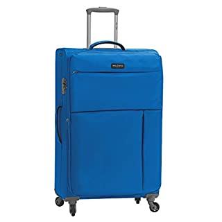 Mia Toro Italy Campiglio Softside 28 Inch Spinner Luggage, Blue, One Size