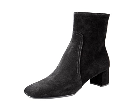 (Prada Women's 3T5524 Black Leather Half-Boot EU 36.5 / US 6.5)