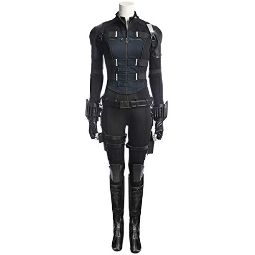 COSFLY Women Adult Black Widow Costume Natasha Romanoff Cosplay Full Set Outfit