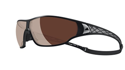 - adidas Tycane Pro L A189 6050 Polarized Rectangular Sunglasses, Matte Black & Grey, 74 mm