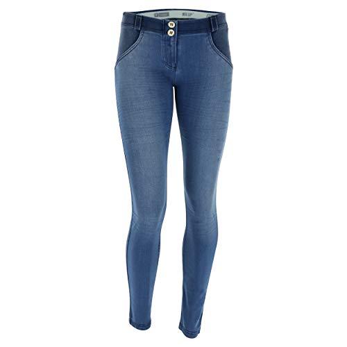 spray Mainapps Pantalone wrup1ra05e S8 Donna Crinkle Freddy ewrs Denim Seams blue pesn 4z174CH