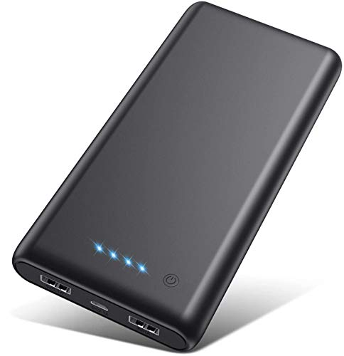 Portable Charger 26800mAh【2020 Upgrade High Capacity】Power Bank Ultra Compact External Battery Pack Backup with 4 LED…