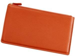 Large Flat Case 'Bright Orange' Leather by Graphic Image™ - by Graphic Image