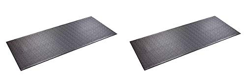 SuperMats High Density Commercial Grade Solid Equipment Mat 29GS Made in U.S.A. for Large Treadmills Ellipticals Rowers Water Rowing Machines Recumbent Bikes and Exercise Equipment (2)