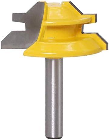 """WSOOX 1/4 """"Schaft 45 Grad Verleimfräser Gehrung Fräse Lock Miter Router Bit Holzbearbeitung Fräser Oberfräser Werkzeug Joint Tenon Cutter"""