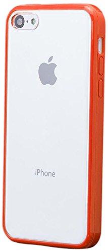 Apple iPhone 5C | iCues TPU Pare-chocs avec Clear Retour Case Rouge | [Protecteur d'écran, y compris] protecteur de feuille transparente Temps clair de gel de silicone Housse étui de protection couver