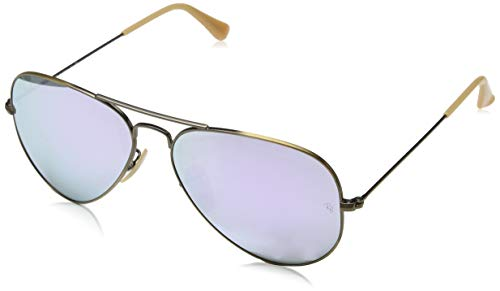 Ray Ban Rose Lens Sunglasses - Ray-Ban RB3025 Aviator Flash Mirrored Sunglasses,