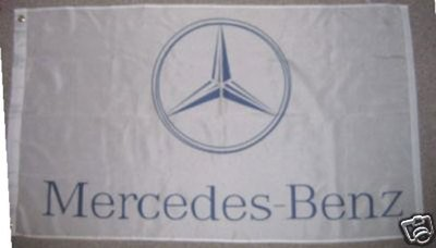 New 3'X5' Mercedes Benz Logo Car Dealer White Banner Flag Sign