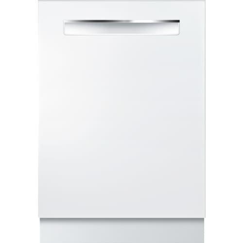 Bosch 800 Series 24″ Pocket Handle Built-In White Dishwasher